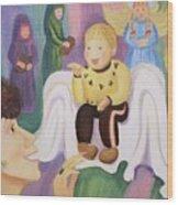 Billy As Baby Jesus Wood Print