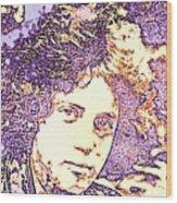 Billy Joel Pop Art Wood Print