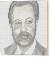Billy Joel Portrait Wood Print