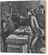 Billy The Kid 1859-81, Shooting Wood Print