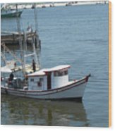 Bilouxi Shrimp Boat Wood Print