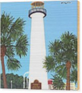 Biloxi Lighthouse Wood Print