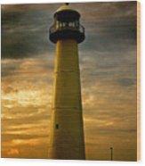 Biloxi Lighthouse Wood Print by Scott Pellegrin