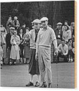 Bing Crosby And Ben Hogan Wood Print