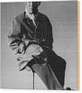 Bing Crosby Pebble Beach Bw Wood Print