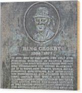Bing Crosby Pebble Beach I Wood Print