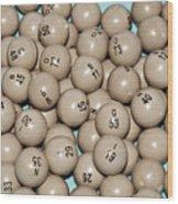 Bingo Balls Wood Print