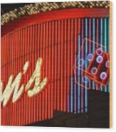 Binions Casino  Wood Print