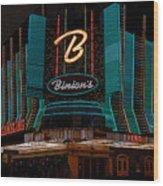 Binions Vegas Wood Print