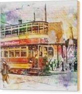 Binns Tram 2 Wood Print