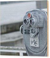 Binoculars  Wood Print