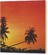 Bintan Island Sunset Wood Print