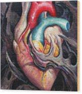 Bio Heart Wood Print by Matt Truiano