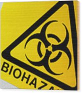 Biohazard Symbol Wood Print by Tim Vernon, Nhs Trust