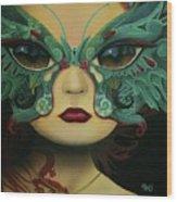 Biomorphic Bifocals Wood Print