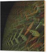 Biosphere Threatened Wood Print