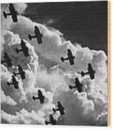 Biplanes, C1917 Wood Print