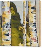 Birch 1 Wood Print