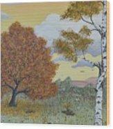 Birch And Oak Frienship Wood Print