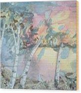 Birch Filigree Wood Print