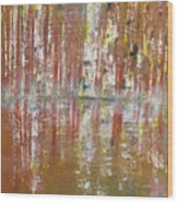 Birch In Abstract Wood Print