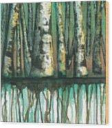 Birch Trees #5 Wood Print