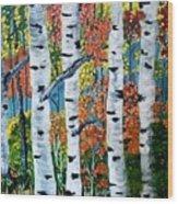 Birch Tree's Wood Print