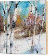 Birch Valley Wood Print