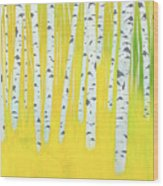Birch Woods Wood Print