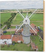 Bircham Windmill Wood Print