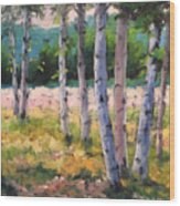Birches 04 Wood Print