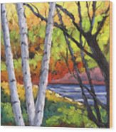 Birches 06 Wood Print