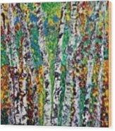 Birches And Scrub Wood Print