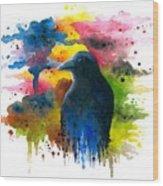 Bird 71 Crow Raven Wood Print