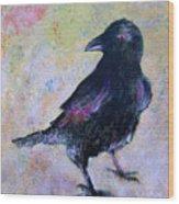 Bird Above His Chamber Door Wood Print