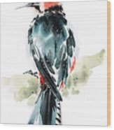 Bird Art Wood Print