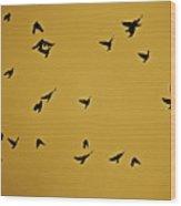 Bird Ballet Wood Print