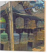 Bird Cages Vintage Photo Indonesia Wood Print