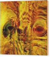 Bird Face Wood Print