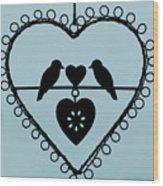 Bird Heart Wood Print