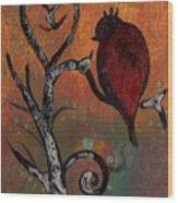 Bird I Wr Wood Print