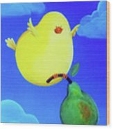 Bird In The Air Wood Print by Lael Borduin