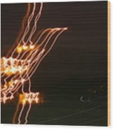 Bird Lights Wood Print