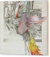 Bird  Wood Print