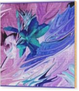 Bird Of Paradise In Blue Wood Print