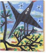 Bird On A Tree After Picasso Wood Print by Alexandra Jordankova