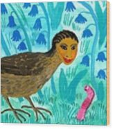 Bird People Blackbird And Worm Wood Print