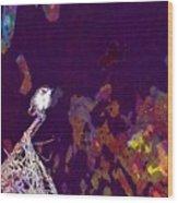 Bird Small Garden Little Bird  Wood Print