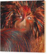 Bird Woman Wood Print