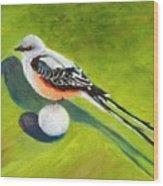 Birdie Time Wood Print